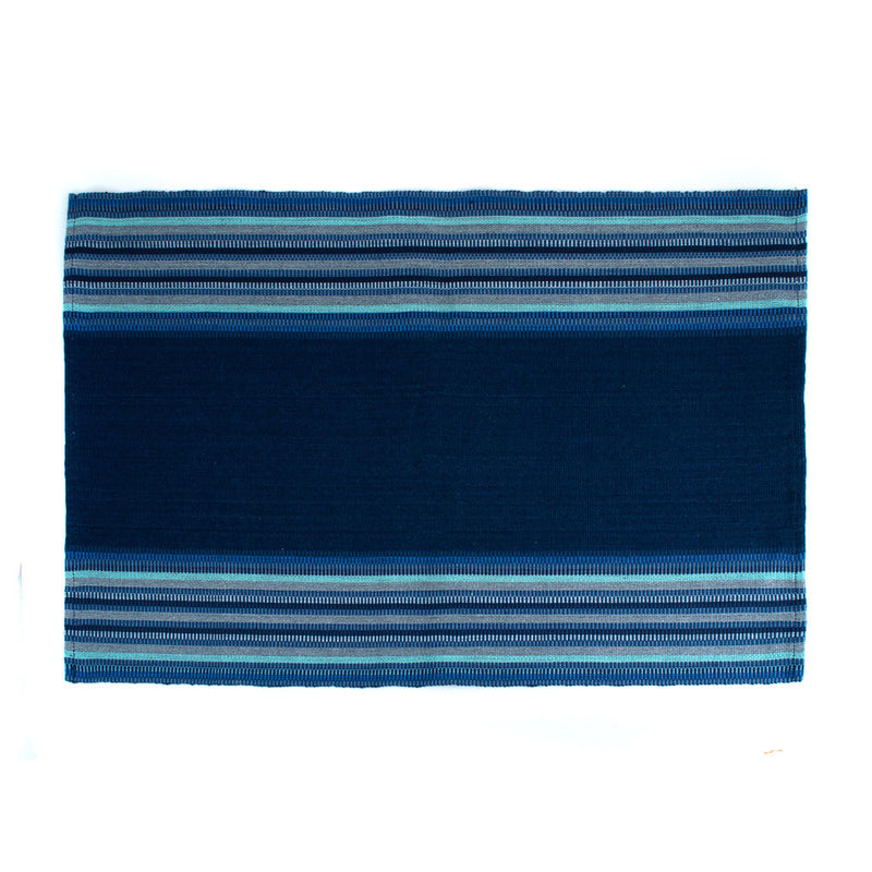 Handwoven Indigo and Blues Placemat