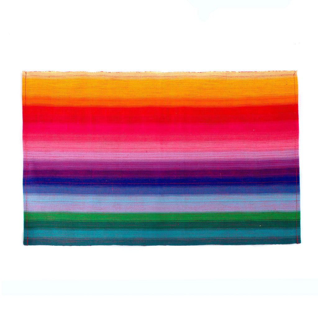 Handwoven Rainbow Placemat