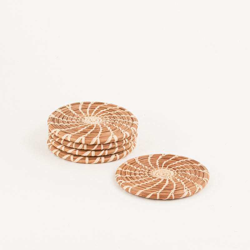 Pine Needle Coaster Set of 4 | Mayan Hands