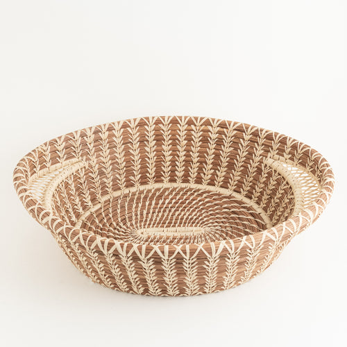 Large Pine Needle Baskets with Lacy Handles