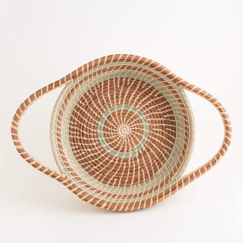 Mayra Pine Needle Basket with accentuated handles