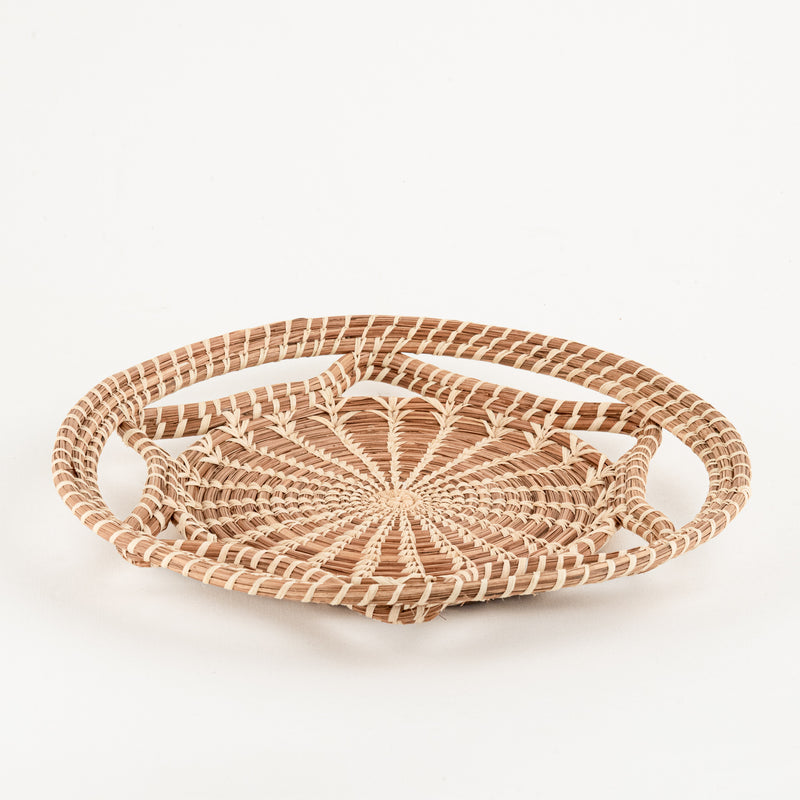 Pine Needle Basket with wavy design