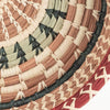 Checkered Pine Needle Basket detail