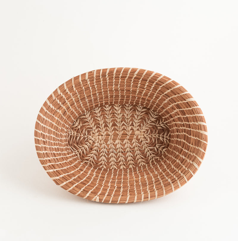 Rosa Oval Pine Needle bread Basket top view