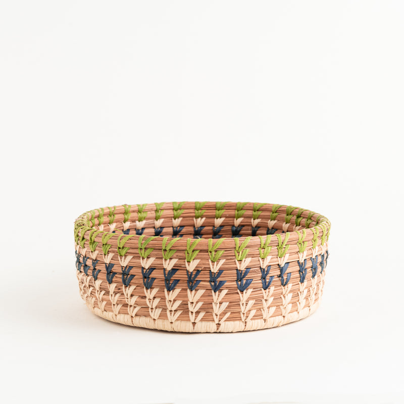 Marisol Pine Needle Basket - side view