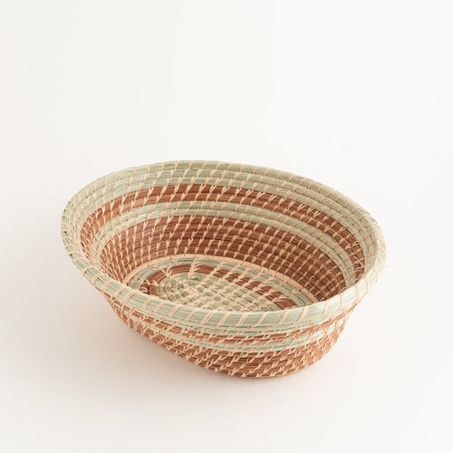Oval Wild Grass and Pine Needle Basket