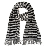 Mayan Moonlight Scarf black and white