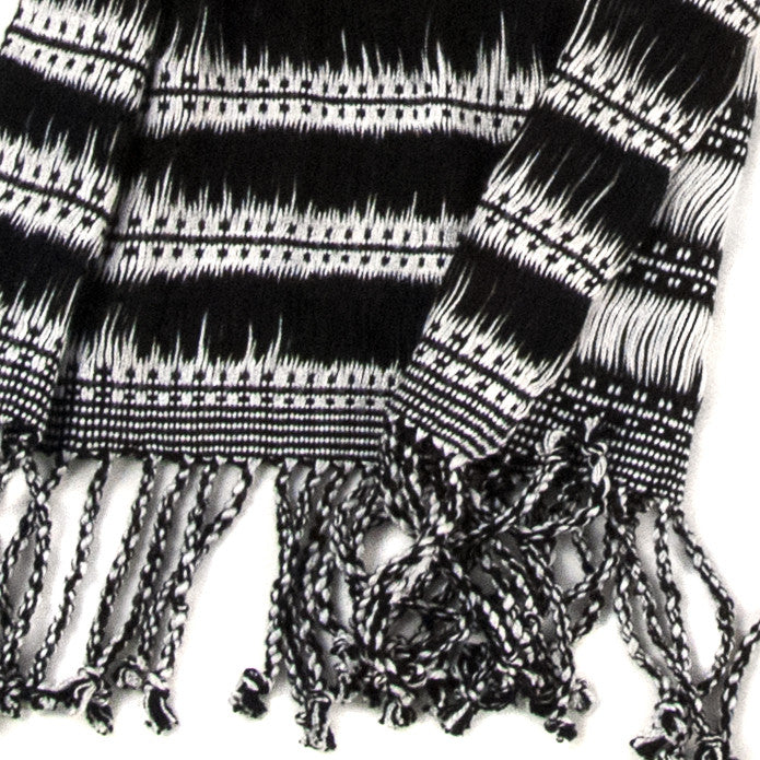 Mayan Moonlight Scarf - detail
