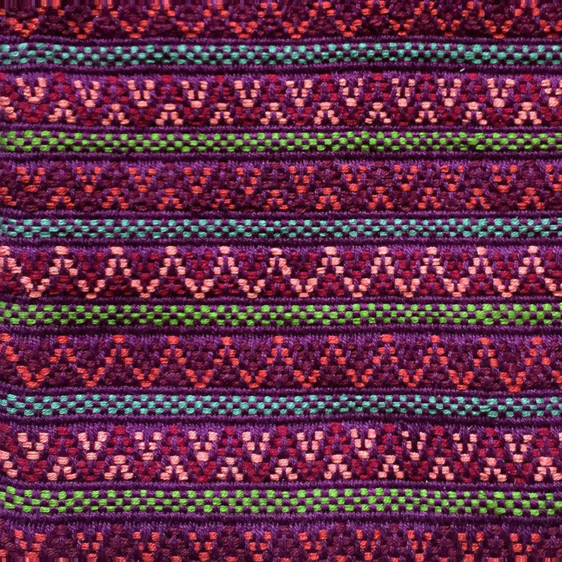 Santiago Brocade fabric swatch mulberry