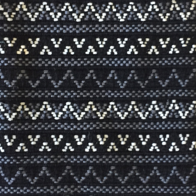 handwoven brocade fabric black and white