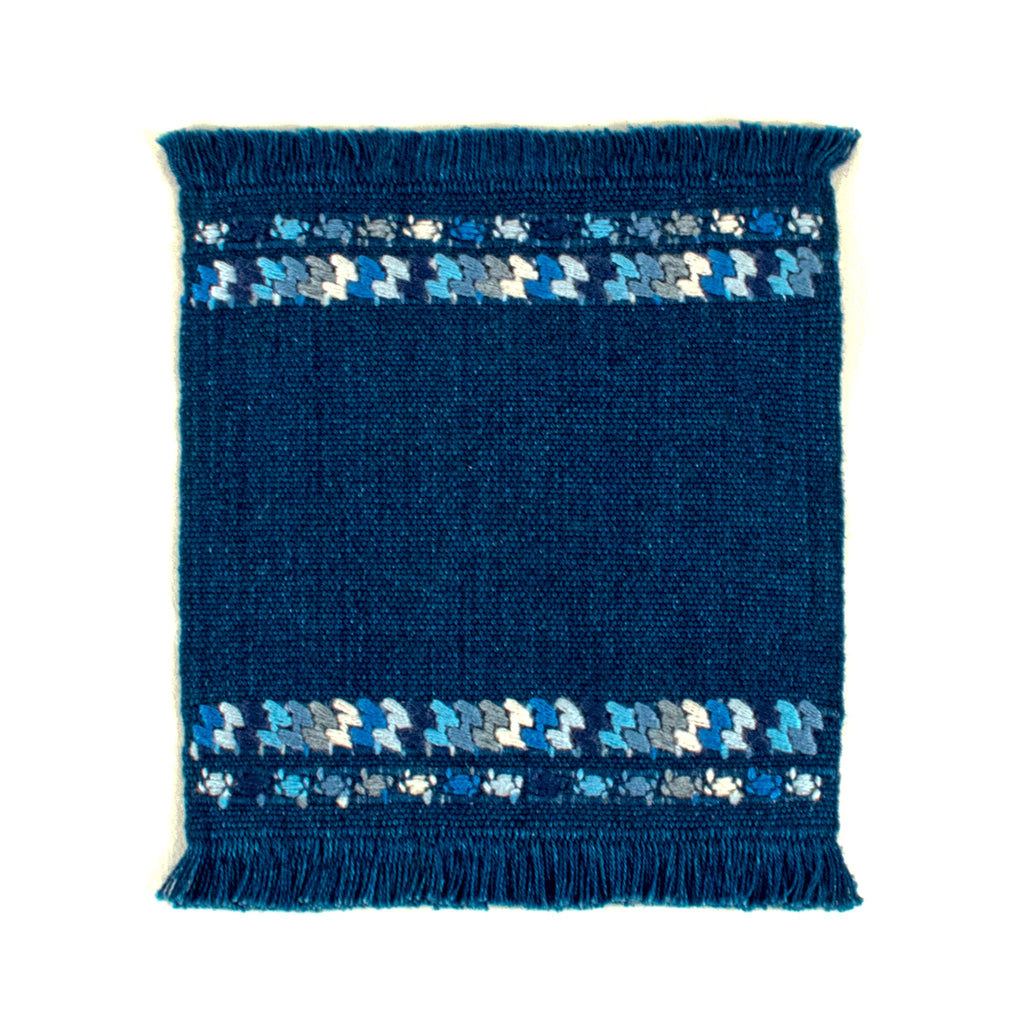 indigo coaster with brocade