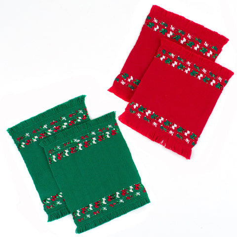 Green Holiday Sparkle Table Runner