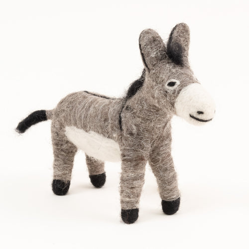 felted wool donkey