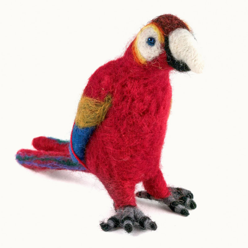Felted Wool Macaw