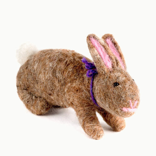 felted wool rabbit