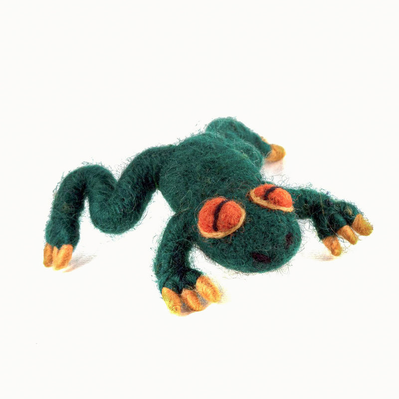 felted wool frog