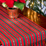 Holiday Jaspe Table Runner with Gold