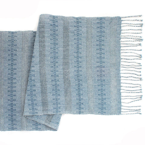 Indigo Jaspe Table Runner