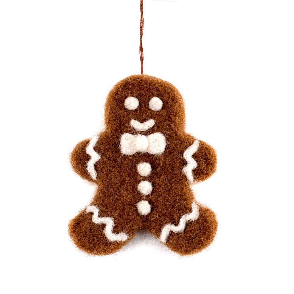 Felted Wool Gingerbread Ornament