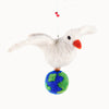 Felted Wool Dove of Peace Ornament
