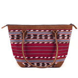 handwoven handbag with leather trim | Mayan Hands