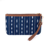 Indigo and Jaspe Macaria Clutch