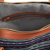 Interior of Blue Stripe Traveler Bag