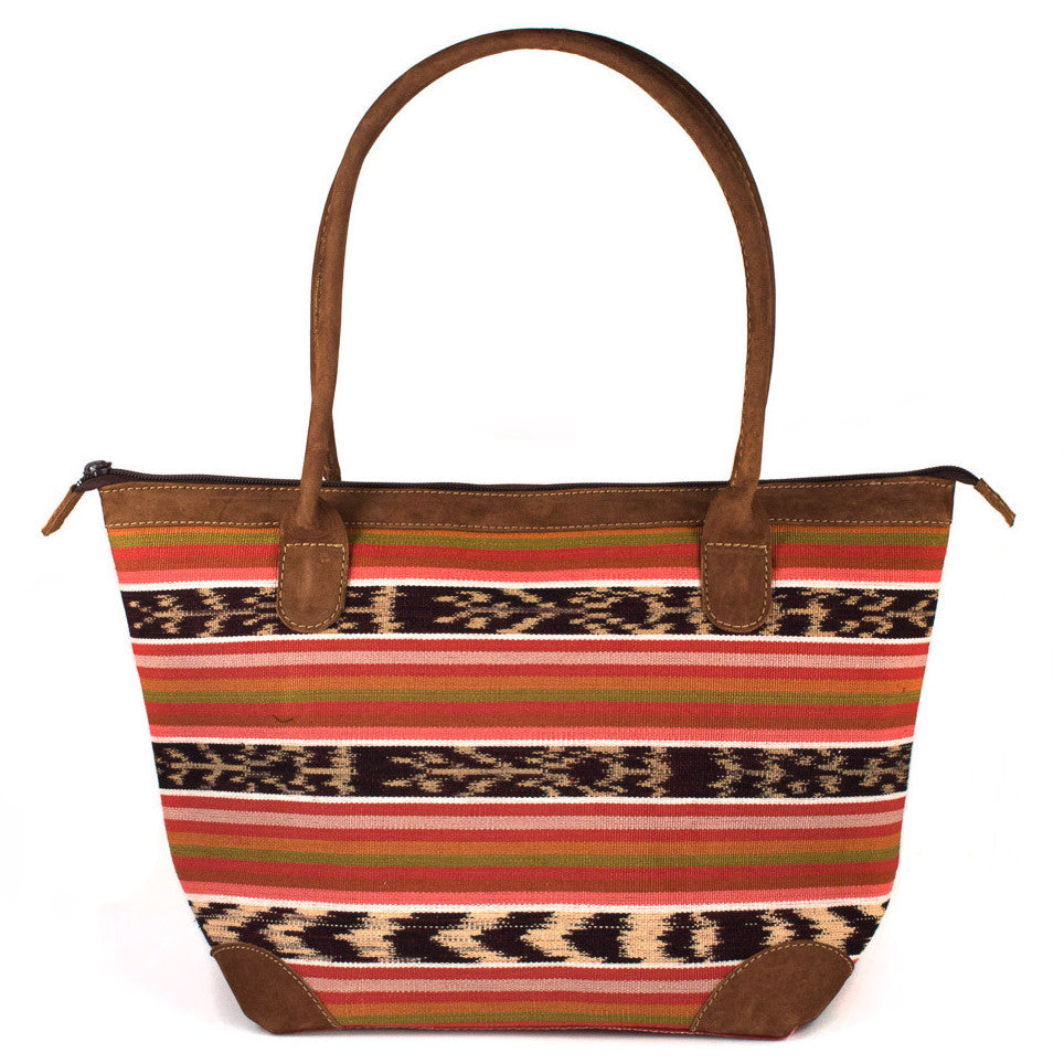 Mariana Bag with Earth Tone Jaspe Ikat