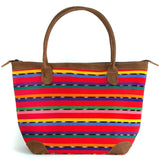 Mariana Bag in Red Solola Stripe