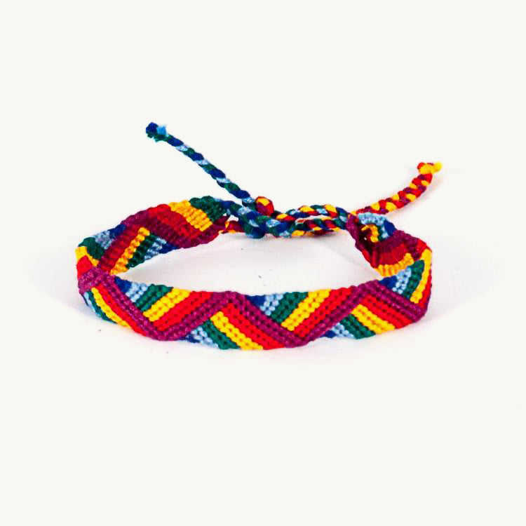 rainbow zigzag friendship bracelet