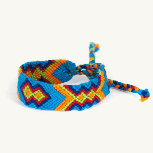 Geo Friendship Bracelet - blue | Mayan Hands