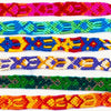 colorful handmade traditional friendship bracelets
