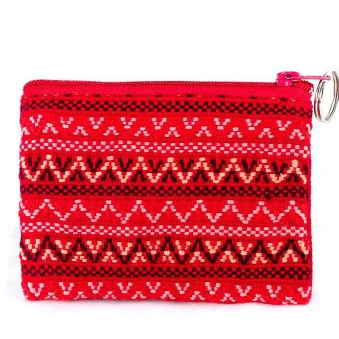 bright red santiago coin purse