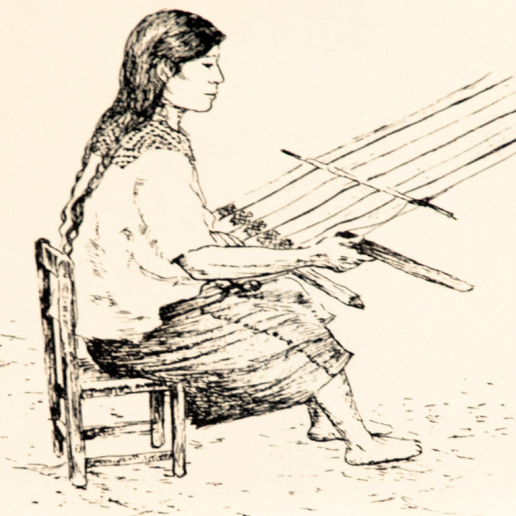 maya-woman-weaving-notecard