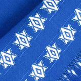 Blue Challah Cover with White Stars - detail