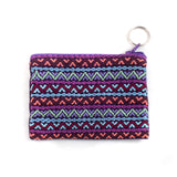 purple brocade coin purse from Guatemala