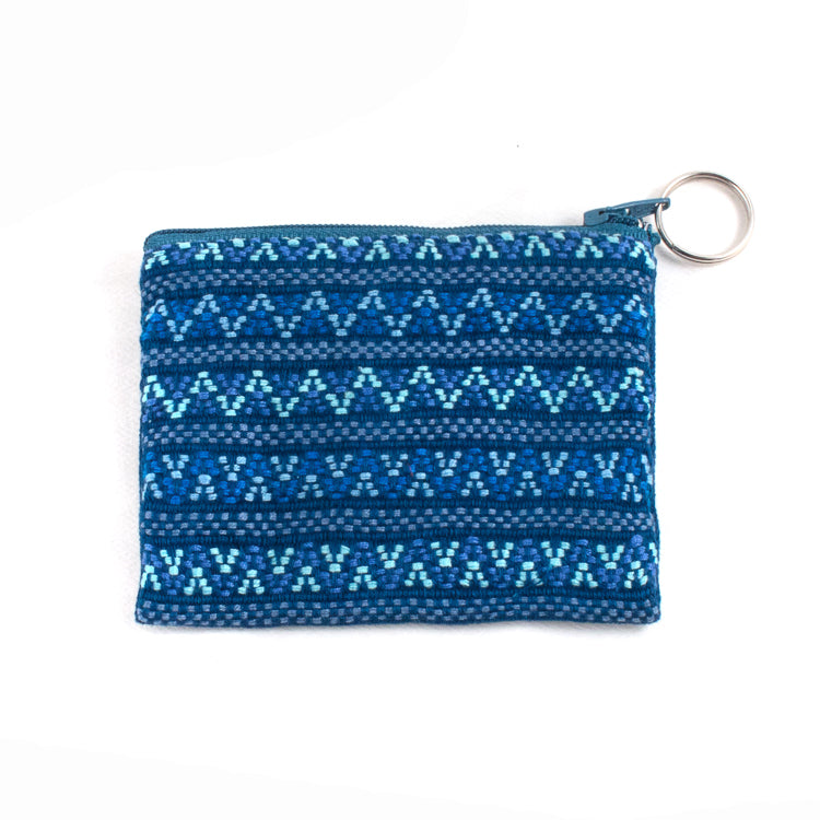 handwoven coin purse navy