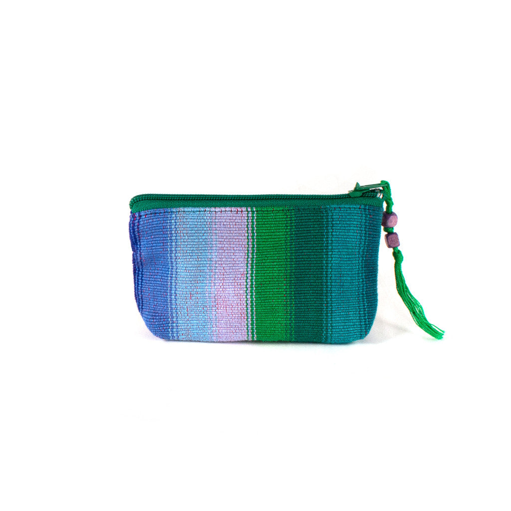 colorful handwoven coin purse