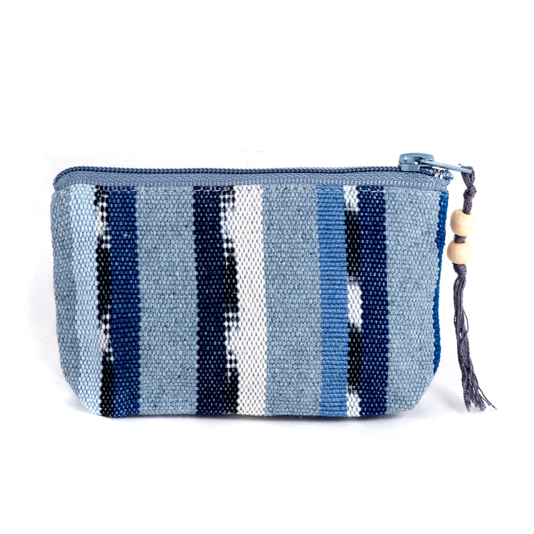 recycled denim solola coin purse