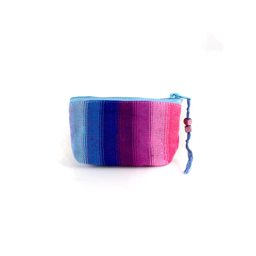 blue purple and pink rainbow coin purse