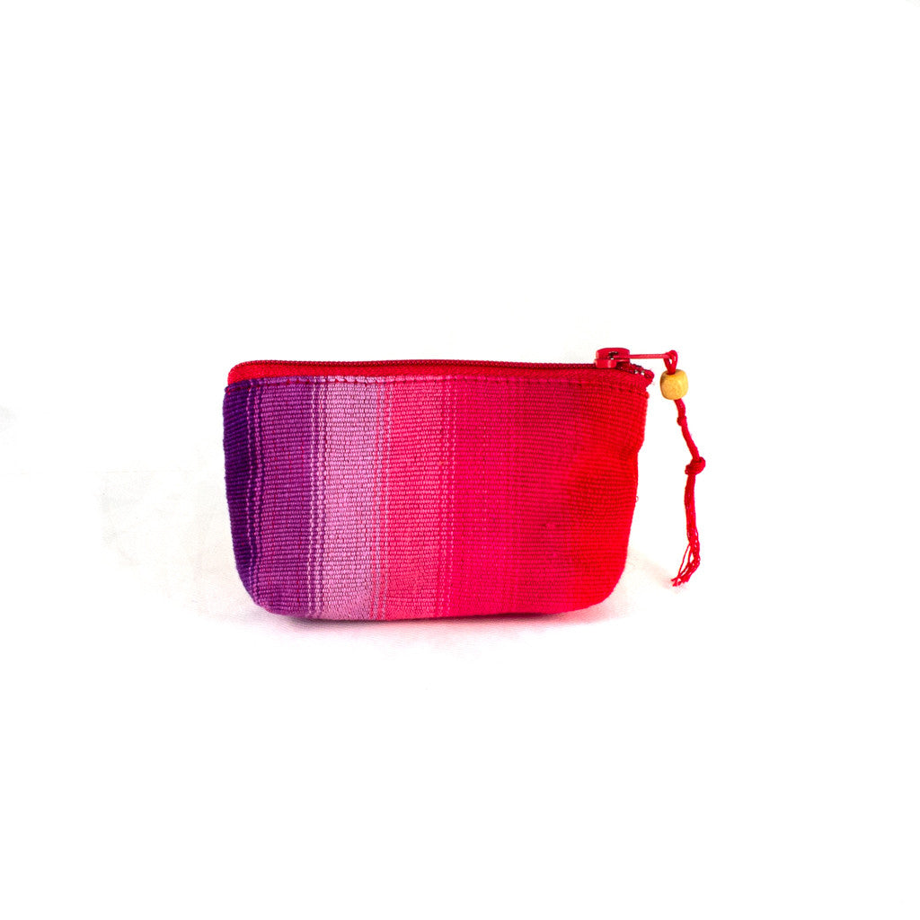 red purple and pink coin purse