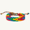 handwoven rainbow arrow bracelet