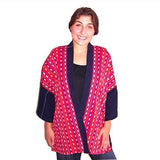 Red Solola Handwoven Jacket on model