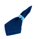 Handwoven Indigo Napkin with Napkin Ring