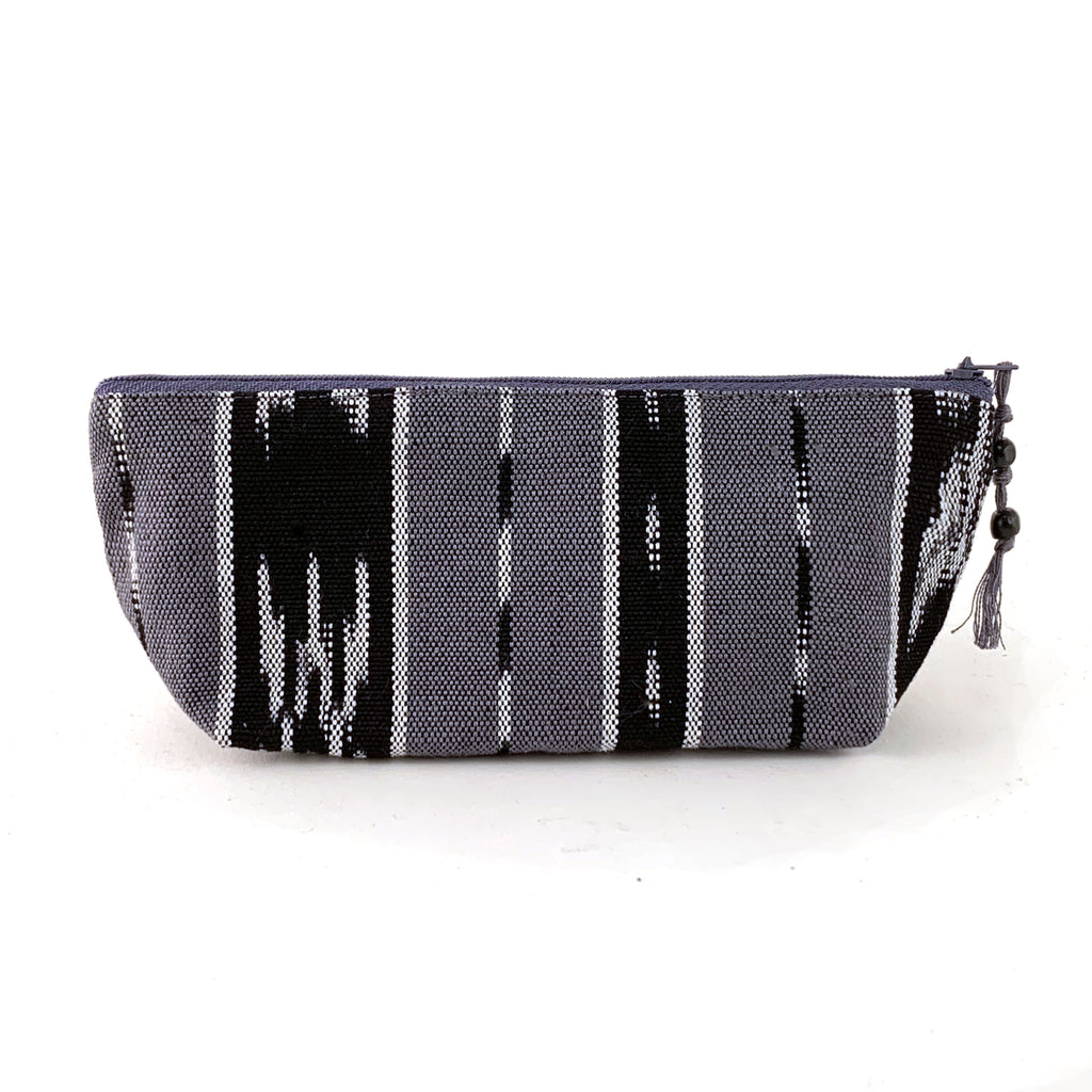 handwoven pencil pouch gray