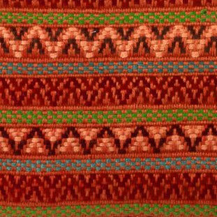 burnt orange santiago brocade detail