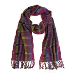 multi-color rayon scarf | Mayan Hands