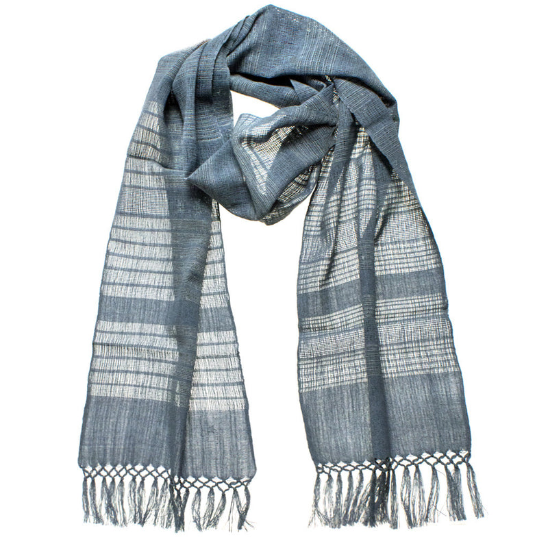 Gauzy Recycled Denim Thread Scarf