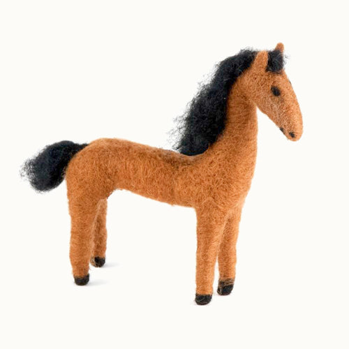 Felted Wool Horse (chestnut)