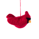 Felted Wool Cardinal Ornament